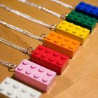 FUNKY KITSCH KAWAII FUN 80S STYLE LARGE BRIGHT LEGO BRICK NECKLACE 7 COLOURS!