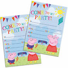 Peppa Pig Birthday Invitations Girl Boys Pre School Party Invites! George&Peppa