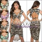 NEW SEXY WOMENS CROP TOP XXS XS S M LADIES WRAP SHIRT shop online CAMO CLUBWEAR