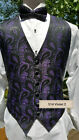Man ' s Windsor Paisley Backless Vest w/option for tie purchase
