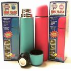 HIS AND HERS DRINKING FLASKS, BLUE OR PINK 500 ML STAINLESS STEEL WALKING ETC
