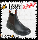 Mongrel Work Boots (240090) Steel Toe Ankle Elastic sided Brown boot
