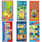 Kids Despicable Me Minions Movie Printed Beach Holiday Towel Brand New Gift