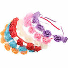 Elegant Mesh Rose Flower Hair Band Headband Hair Clip Garland Beach Girl Womens