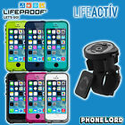 Genuine Lifeproof Fre waterproof case + Lifeactiv Bike Mount mount iPhone 5 5S