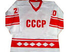CUSTOM USSR CCCP RUSSIA HOCKEY JERSEY VLADISLAV TRETIAK SEWN NEW ANY NAME  SIZE