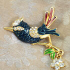Colorful Figurine Crystals Brooch, 5 Design, Free Gift Box