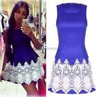 Womens Summer Sexy Lace BodyCon Party Evening Cocktail Casual Mini Dress ItS7