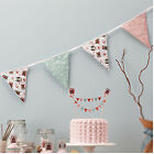 Patchwork Owl Baby Shower Christening 1st Birthday Party Fabric Flag Bunting 3.5