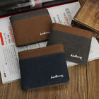 New Men's Canvas Bifold Wallet Casual Retro Business ID Card Holder Purse US