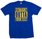 Custom Straight Outta T-Shirt - Personalized Your Text Compton NWA - All Colors