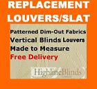 Vertical Blinds Replacement Slats White cream Beige SPARE PARTS