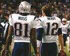 NFL Football New England Patriots Randy Moss and Tom Brady Photo Picture