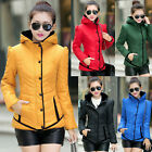 Women Casual Winter Cotton Padded Coat Parka Down Jacket Hooded Outwear Topcoat