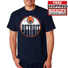 DETROIT OILERS T-SHIRT Made In Hockey Red Wings Wrench 313 Motor City Shirt