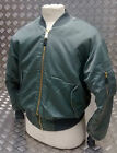 MA1 US Military Style Bomber Jacket MOD/Scooter/Bikers Green Stone Washed - NEW