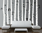 Birch Tree Wall Decal Forest with Birds Vinyl Sticker Removable Nursery Art Baby