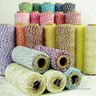 4ply Cotton Bakers Twine 100 Yard Spool Roll of 1mm String in 25 divine colours