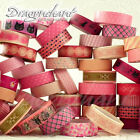 Paper Washi Masking Tape Adhesive Roll Decorative Card Craft Trim PINK Set