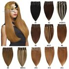 "15""18""20""22""24""26""28"" 7Pcs/Set Clip In Remy Extensions 100% Human Hair Full Head"