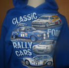 FORD CLASSIC RALLY CARS HOODIE MK1,2 & 6 ESCORTS & RS200 S-2XL BRAND NEW DESIGN