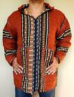 MOROCCAN BAJA JERGA JACKET HOODIE FAIR TRADE WOVEN COTTON FESTIVAL HIPPY TRIBAL