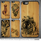 iPhone SE 6s Case Tiger Print on Wood Bamboo Hard Cover for Apple 6 Plus 5s 5c 4
