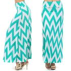 Stylish Chevron Color Blacked Striped Long Elastic Over Waist Jersey Maxi Dress