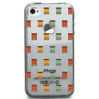 TPU Case for iPhone 4/4s - Vintage Typewritter Pattern