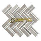 """Marble Mosaic Tile, """"Quilt Collection"""" MM 8105 - Mohegan, Strips, Polished"""