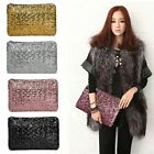Sparkling Sequins New Fashion Clutch Evening Party Bag Handbag Women Tote Purse