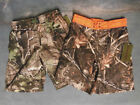 Realtree APG & Max 4 Blaze Orange - Camo Board Shorts Swim Trunks - You Choose