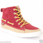 Lacoste Women's Raleigh Canvas Mid PP Dark Red/Brown High Top Laced Trainers