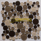 "Glass Mosaic Tile, ""Bubble Collection"" GM 4103 - Frappuccino, Rounds"