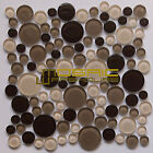 """Glass Mosaic Tile, """"Bubble Collection"""" GM 4103 - Frappuccino, Rounds, 11""""X11"""""""