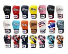 New Fairtex BGV1 Muay Thai Boxing Gloves Training Sparring black white red blue
