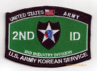 2ND INFANTRY DIVISION PATCH ID KOREAN SERVICE KOREA PIN UP US ARMY VETERAN GIFT