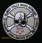 TRUSTY SHELLBACK PATCH USS US NAVY EQUATOR KING NEPTUNE SLIMEY POLLY WOGS BEWARE
