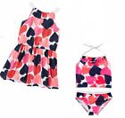 Gymboree Swim Shop Set-Cover up Dress & Sunscreen Swimsuit  4 8 NWT