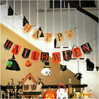 Halloween Stylish Party Decorations Bunting Garland Centrepieces Bats Pumpkins !