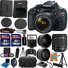 Canon EOS Rebel T5 1200D SLR Camera + 3 Lens 18-55 IS +24GB KIT More Brand New