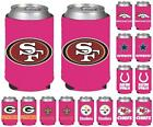 NFL Football Womens Hot Pink Can Holder Collapsible Cooler - 2 Pack - Pick Team! $8.53 USD on eBay