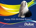 DULUX PAINT TIN icing sheet cake topper - add message for sale  United Kingdom