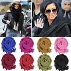 Tassels Faux Cashmere Solid Warm Girl Lady Scarf Wraps Shawl Stole Soft Scarves
