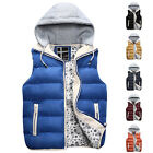Mens Winter Padded Detachable Hoodie Gillet Vest Coat Jacket Bodywarmer S M L XL