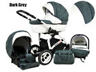 Baby Pram Pushchair 3in1 Travel System Buggy Optional Car Seat+Covers 10 Colour <br/> FORWARD&amp;REAR FACING/Swivel Wheels+Rain Cover+Bag