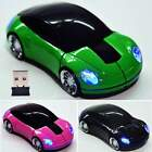 USB Mouse Mice Car Shaped Wireless Optical 2.4G 1800CPI For PC Laptop Mac ItS7