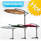 3M Cantilever Garden Parasol Banana Umbrella Patio Set Hanging Sun Shade