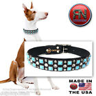 RN Design :: Glass Cab & Swarovski® Crystal Dog Collar :: LEATHER USA HANDMADE