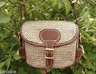 UNIQUE TWEED + BROWN BASKETWEAVE LEATHER TRIM CARTRIDGE BAG 75+ / KEEPERS / 2013